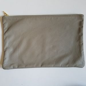 American Apparel Leather Clutch Purse Gold Zipper